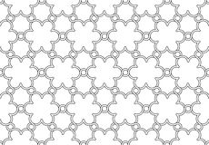 Flowers pattern black and white ornament Stock Images
