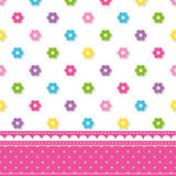 Flowers pattern border Royalty Free Stock Photos