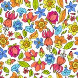 Flowers Pattern Colored Stock Images