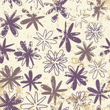 Flowers pattern in grunge Royalty Free Stock Image