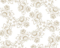 Flowers Pattern. Old fashion seamless vector pattern with flowers Royalty Free Stock Image