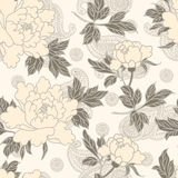 Flowers pattern on paisley background. Stock Images