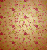 Flowers pattern paper vintage background Royalty Free Stock Photography