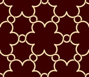 Flowers pattern red and gold decor Stock Photography
