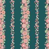 flowers pattern retro Στοκ φωτογραφία με δικαίωμα ελεύθερης χρήσης