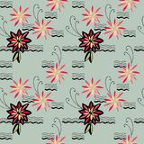 Flowers pattern. Seamless pattern of abstract flowers Royalty Free Stock Photography