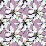 Flowers on pattern for textile Royalty Free Stock Photography