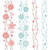 Flowers pattern Stock Images