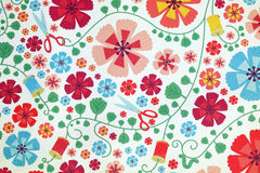 Flowers patterned paper. Stock Photos