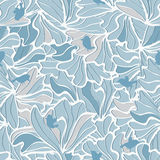 Flowers Petals Birds Seamless Pattern_eps Royalty Free Stock Image