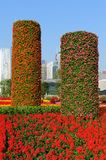 Flowers pillars Stock Photos