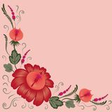 Flowers on a pink background Stock Photography