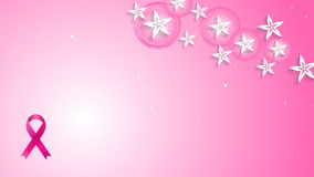 Flowers pink design and breast cancer awareness ribbon video animation stock video