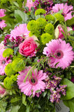 Flowers - Pink And Green Bouquet Royalty Free Stock Images