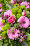 Flowers - Pink And Green Bouquet Royalty Free Stock Photo