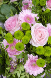 Flowers - Pink And Green Bouquet Stock Image