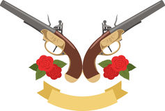 Flowers & Pistols Royalty Free Stock Photo