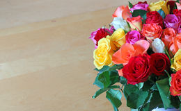 Flowers with a plain background for a message card. Stock Image