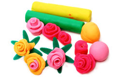 Flowers from plasticine Stock Images