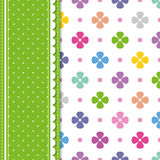 Flowers and polka dot greeting card Royalty Free Stock Images