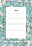Flowers poster template blossoms vintage style Stock Photo