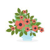 Flowers in pot. Royalty Free Stock Images