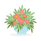 Flowers in pot. Royalty Free Stock Photography