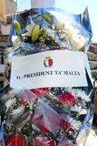 Flowers for the president, Vittoriosa. Royalty Free Stock Image