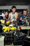 Flowers on the production of machines at the factory3 Stock Image