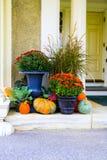 Flowers and pumpkin near Hildene, the Lincoln Family Home Stock Photos