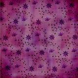 Flowers on purple Stock Image
