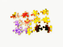 Flowers puzzle Royalty Free Stock Image