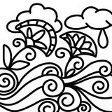 Flowers and rain in black and white Royalty Free Stock Photos