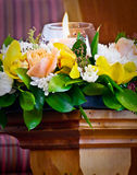 Flowers ready for funeral service. Shot of flower for funeral royalty free stock image