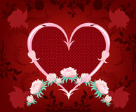 Flowers on a red background. Stock Photo