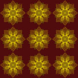 Flowers on a red background. Seamless floral pattern. Flowers on a red background Stock Photo