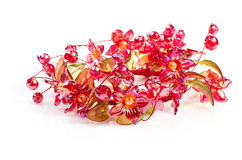 Flowers of red glass Royalty Free Stock Photo