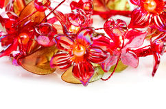 Flowers of red glass Stock Images