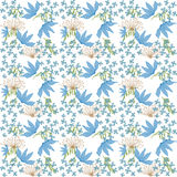 Flowers repeat pattern Royalty Free Stock Images