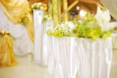 Flowers in Restaurant Stock Photos