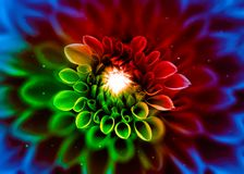 Abstract Surreal Flower Art royalty free stock images