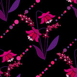Flowers retro abstract seamless pattern texture background Royalty Free Stock Images