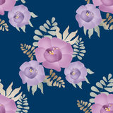 Flowers retro abstract seamless pattern texture background Stock Photo