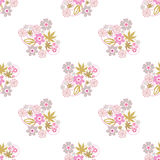 Flowers retro abstract seamless pattern texture background Stock Photos