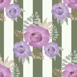 Flowers retro abstract seamless pattern texture background Stock Photography