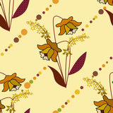 Flowers retro abstract seamless pattern texture background Stock Images