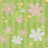 Flowers retro abstract seamless pattern texture striped backgrou Stock Photography