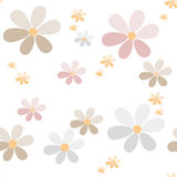 Flowers retro abstract seamless pattern texture white background Royalty Free Stock Image