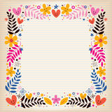 Flowers retro border Royalty Free Stock Image