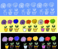 Flowers.ribbons无缝的模式 库存图片